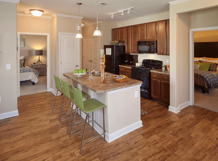 Perry Point model suite kitchen in Raleigh, North Carolina