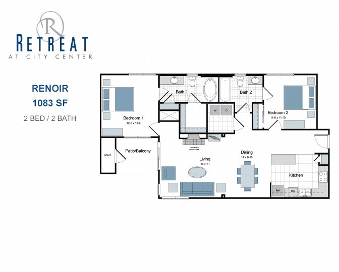 Retreat At City Center One Two And Three Bedroom