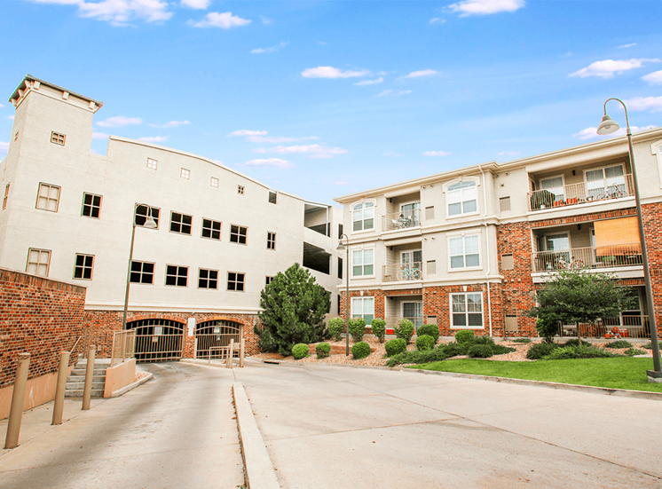 Retreat at City Center apartments resident parking garage in Aurora, Colorado