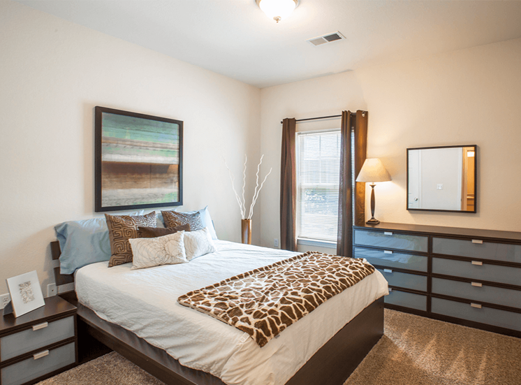 Settlers' Creek model suite bedroom in Fort Collins, Colorado