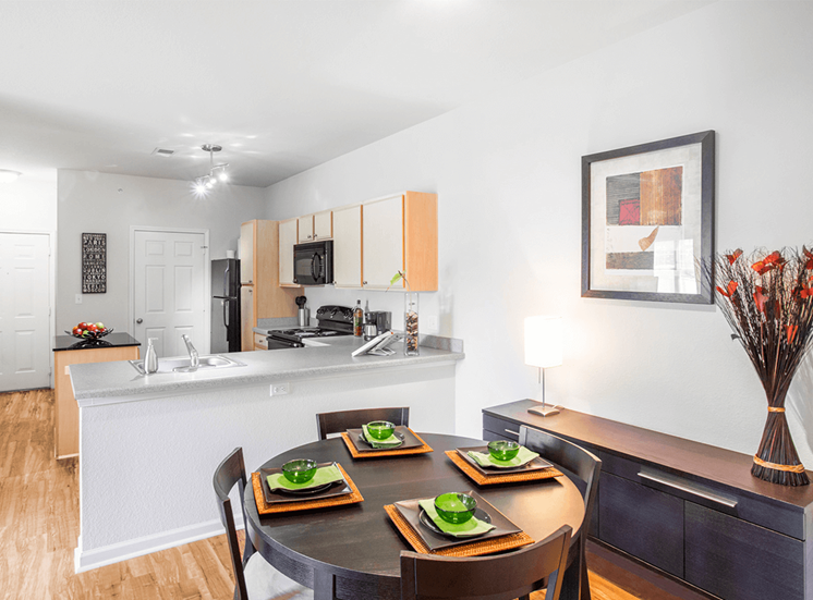 Settlers' Creek model suite dining area in Fort Collins, Colorado