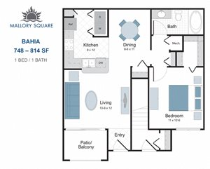 Bahia one bedroom apartment for rent