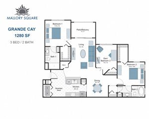Grande Cay three bedroom apartment for rent