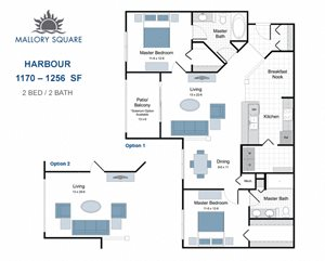 Harbour two bedroom apartment for rent