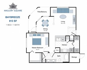 Baybreeze one bedroom apartment for rent