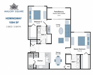 Hemingway two bedroom apartment for rent