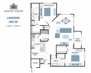 Lakeside two bedroom apartment for rent