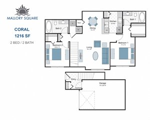 Coral two bedroom apartment for rent