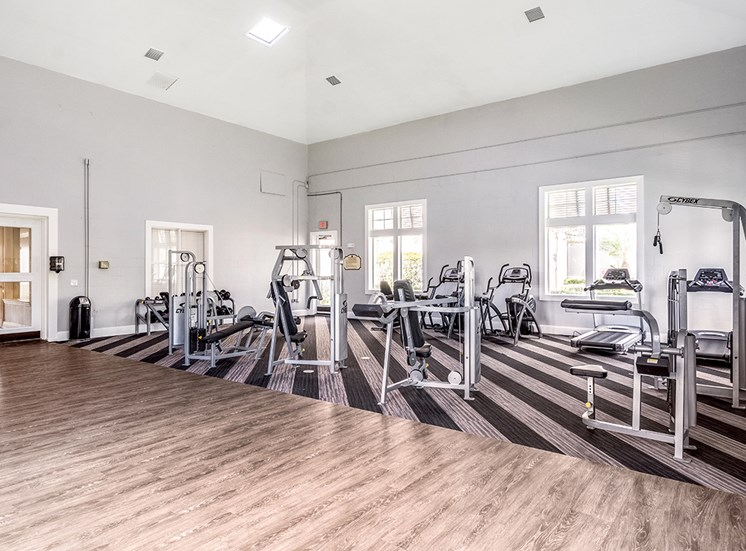 Mallory Square apartments fitness center in Tampa, Florida