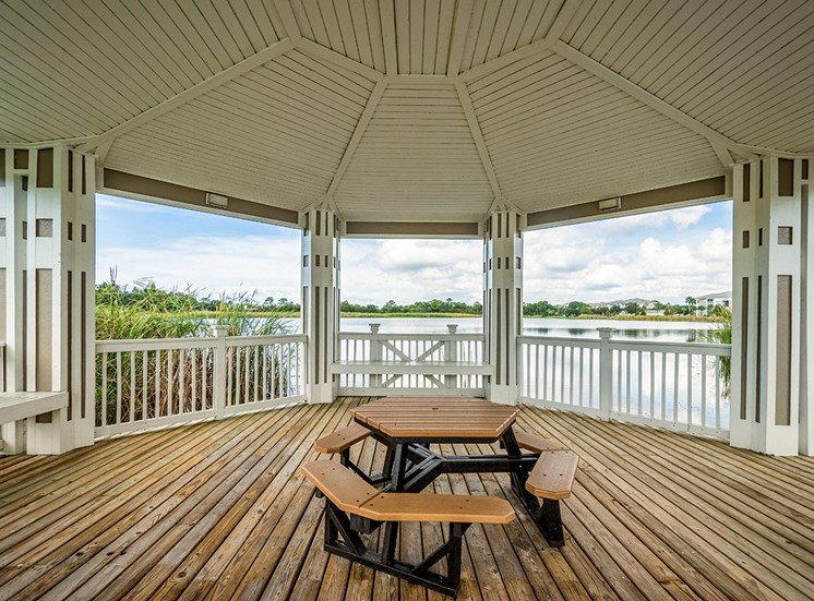 Mallory Square apartments gazebo in Tampa, Florida