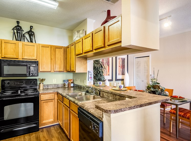 Mallory Square model suite kitchen in Tampa, Florida
