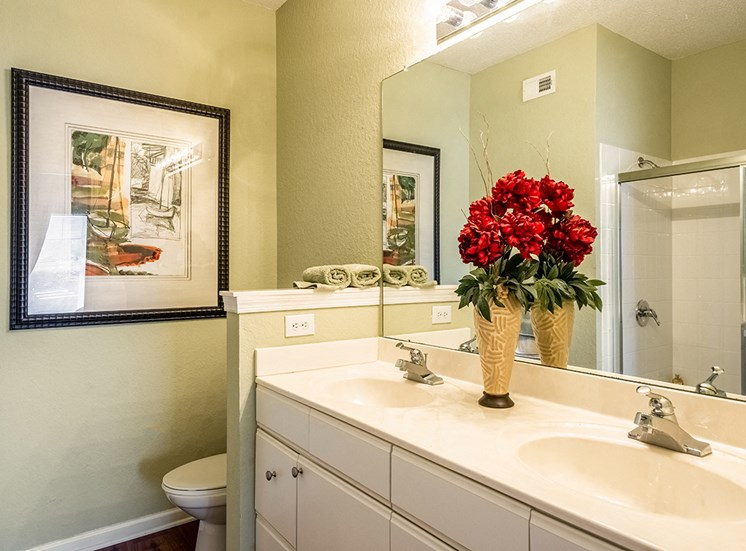 Mallory Square model suite bathroom in Tampa, Florida