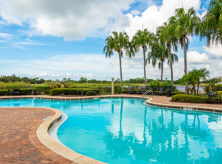 Mallory Square apartments swimming pool in Tampa, Florida