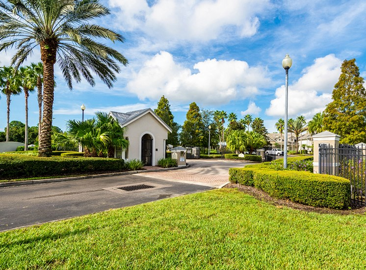 Mallory Square apartment community entrance in Tampa, Florida