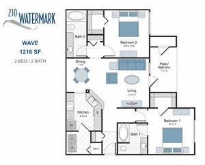 Wave two bedroom apartment for rent