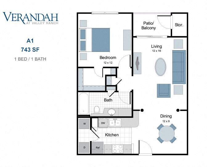A1 one bedroom apartment for rent