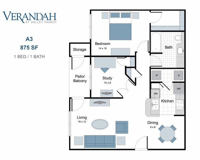A3 one bedroom apartment for rent