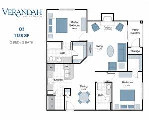 Verandah at Valley Ranch Apartments, 8600 Valley Ranch Parkway ...