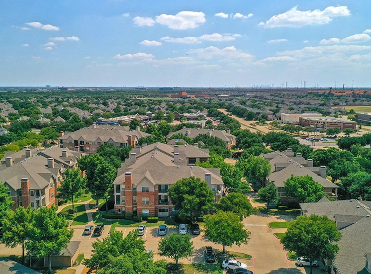 Aerial view of Verandah at Valley Ranch in Irving, Texas