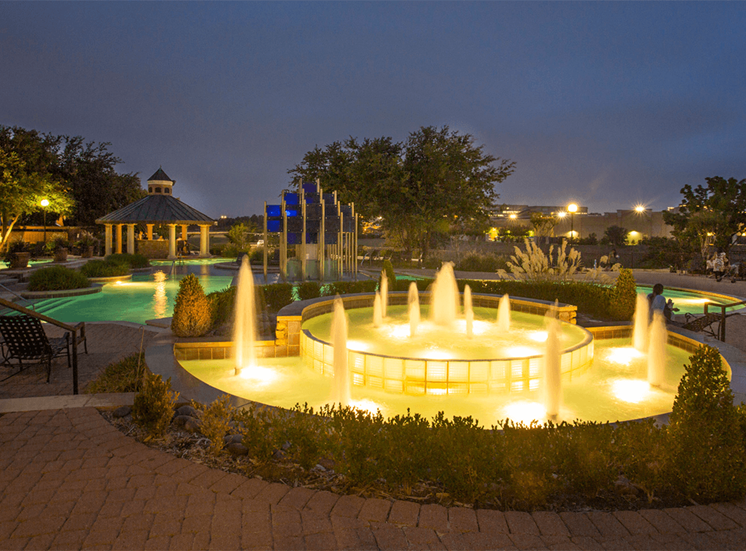 Grand Venetian apartments fountain in Irving, Texas