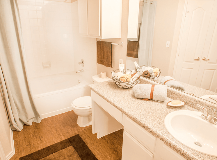 Grand Venetian model suite bathroom in Irving, Texas