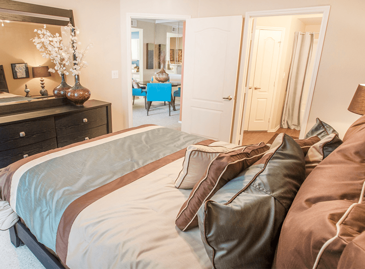 Grand Venetian model suite bedroom in Irving, Texas
