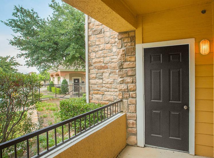Grand Venetian model suite balcony in Irving, Texas