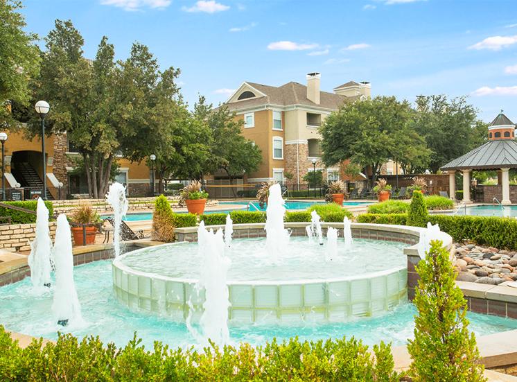 Grand Venetian apartments fountain in Irving, Texas