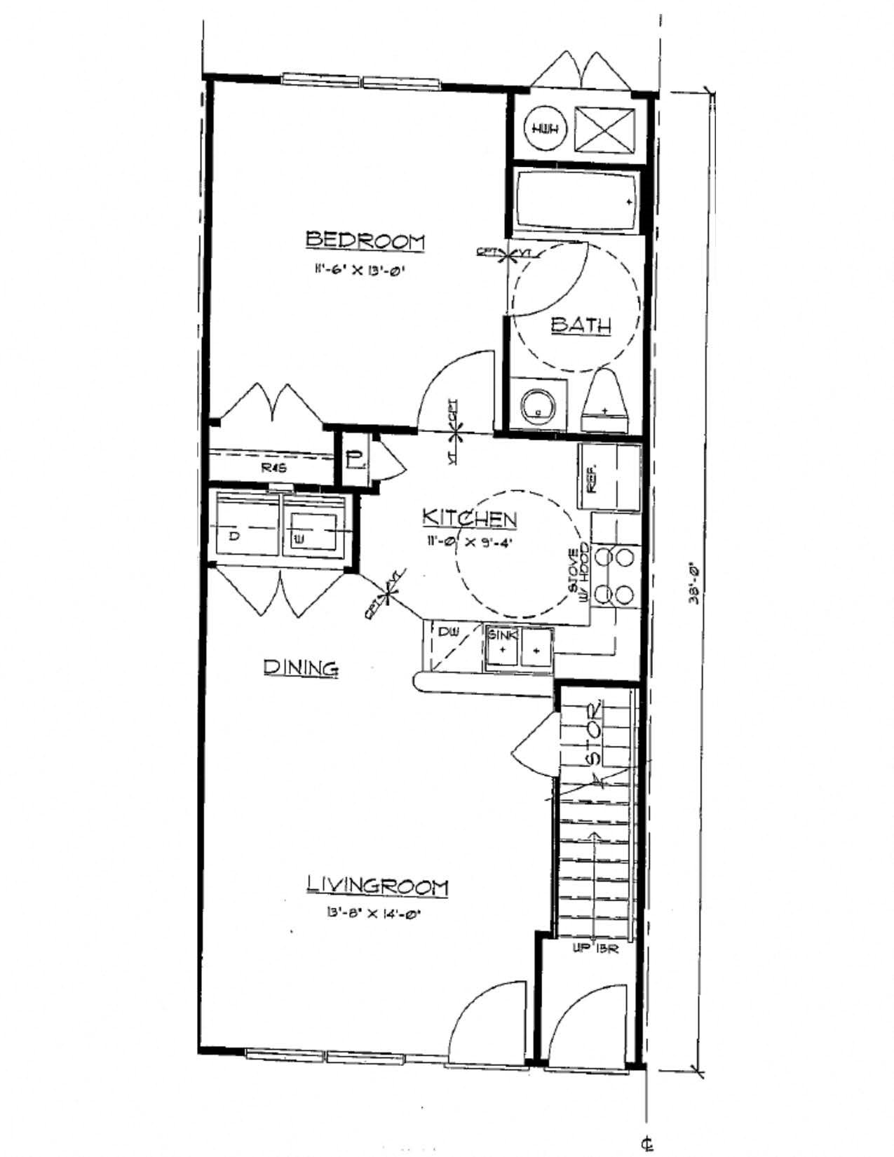 1 Bedroom Flat Floor Plan 1