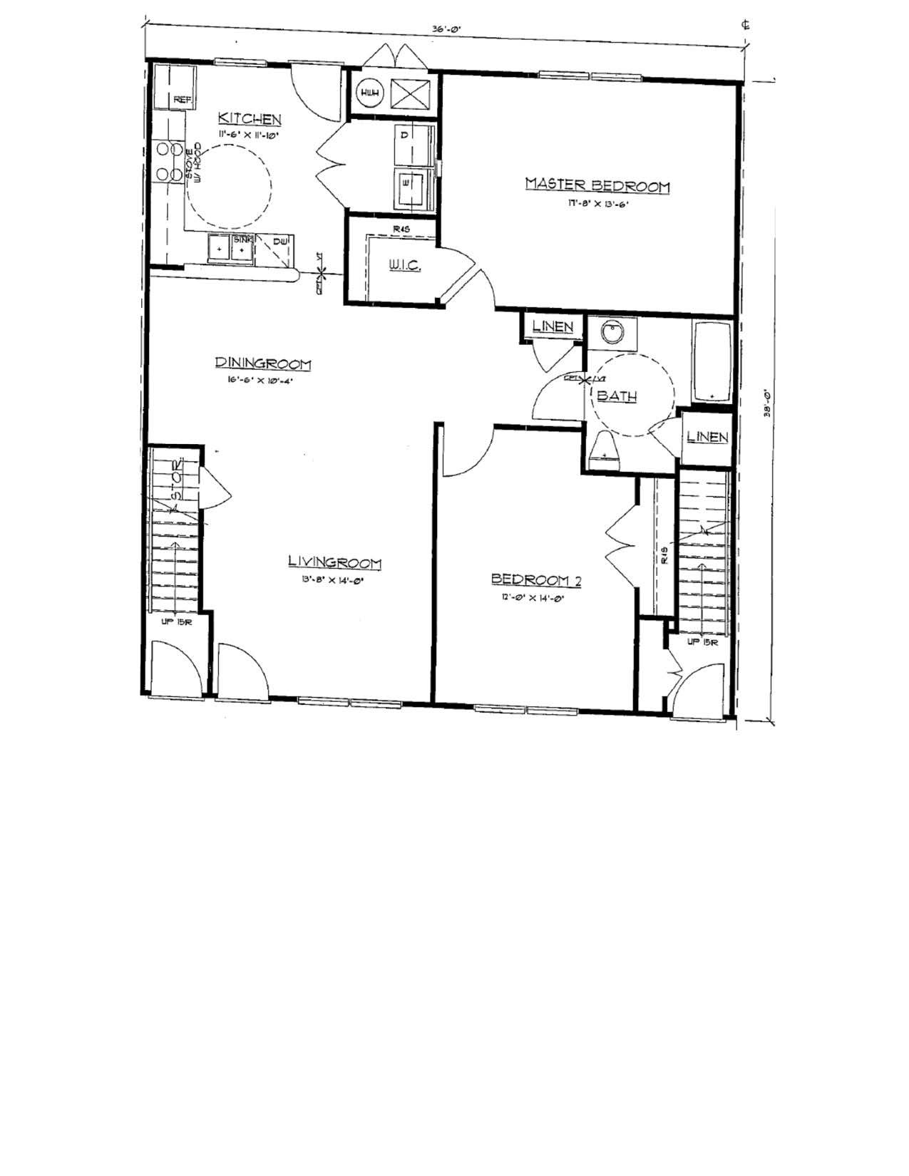 2 Bedroom Flat Floor Plan 2