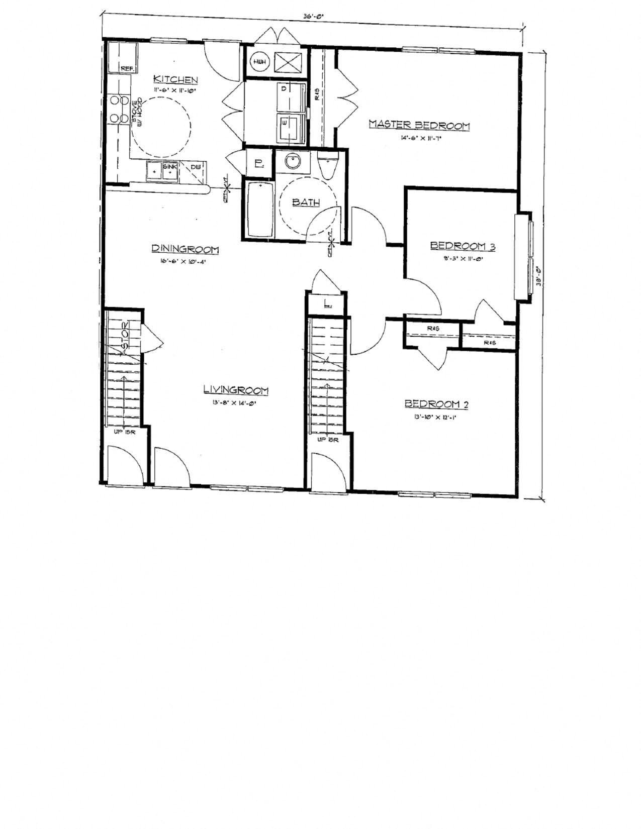 3 Bedroom Flat Floor Plan 4