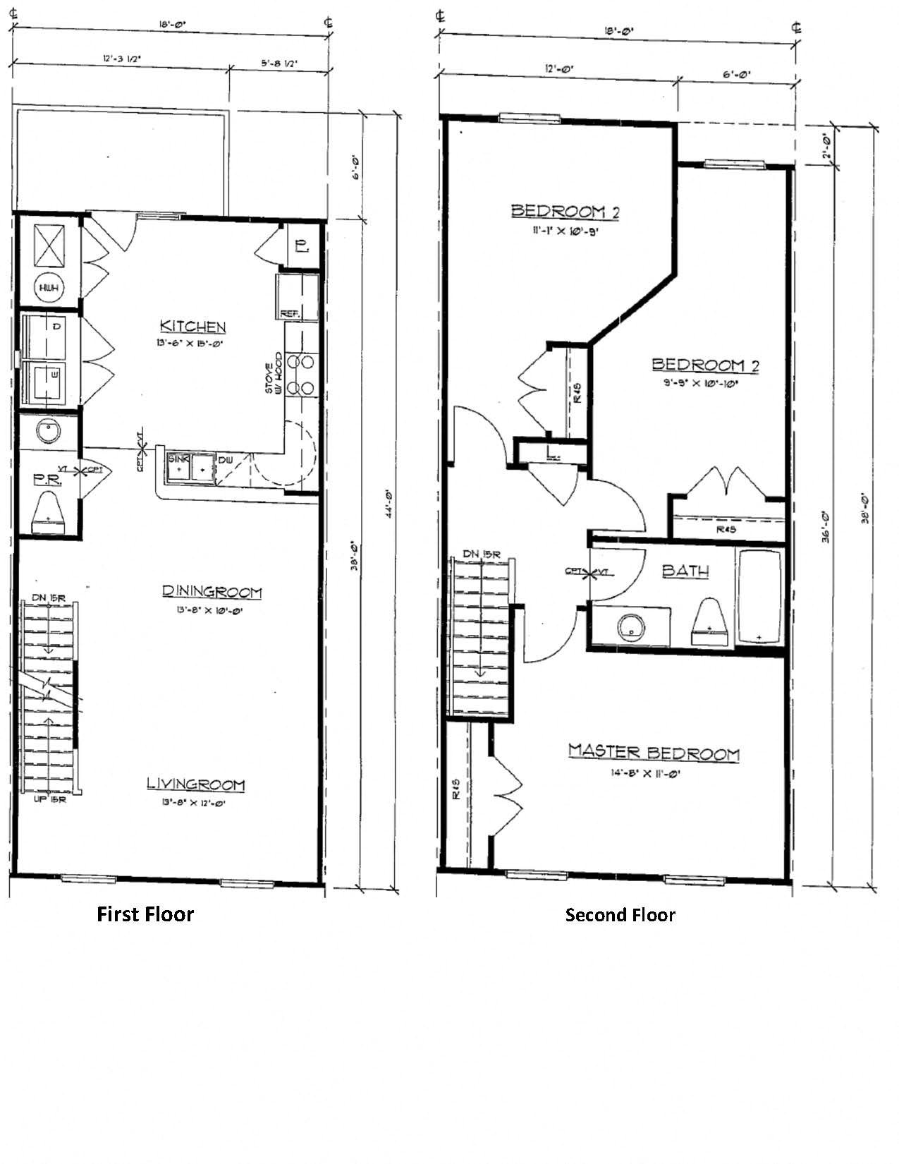 3 Bedroom Townhouse Floor Plan 5