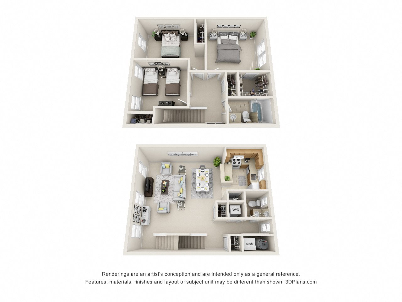 3 Bedroom Townhouse Floor Plan 4