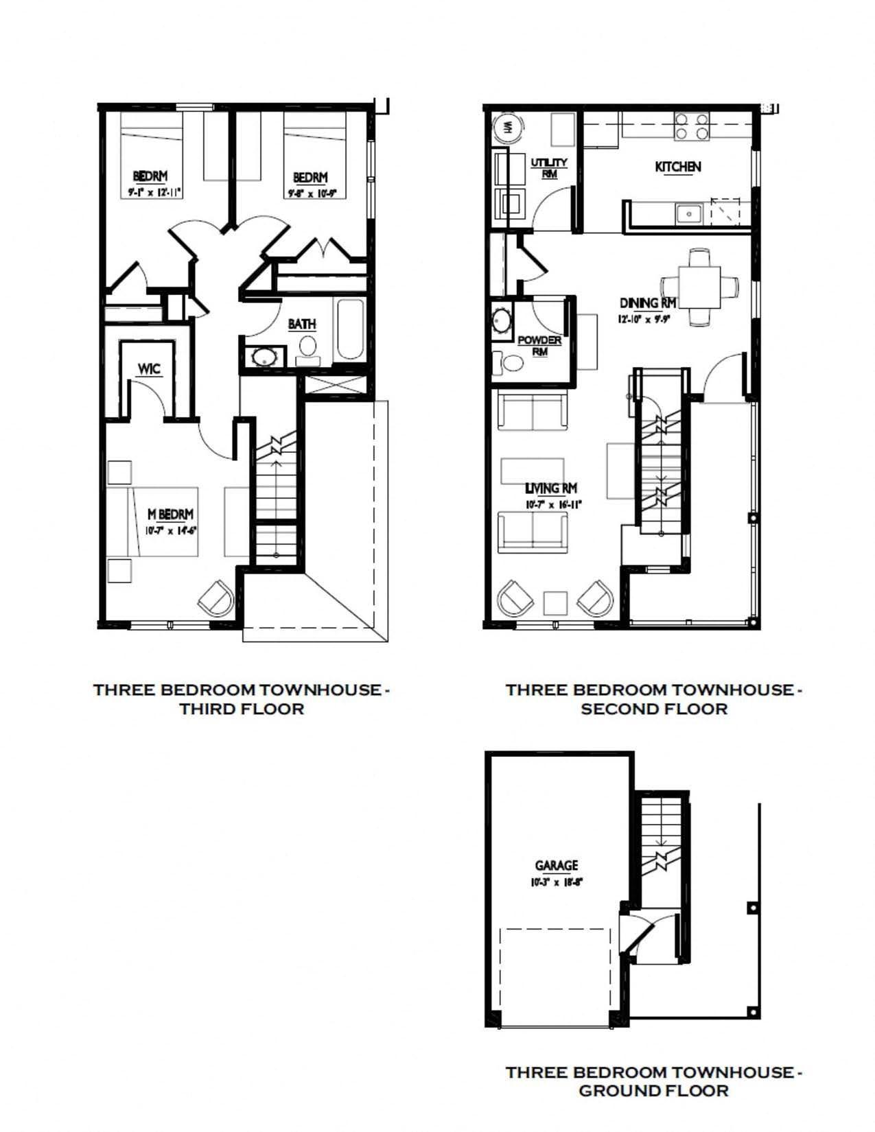 3 Bedroom Townhouse Floor Plan 3