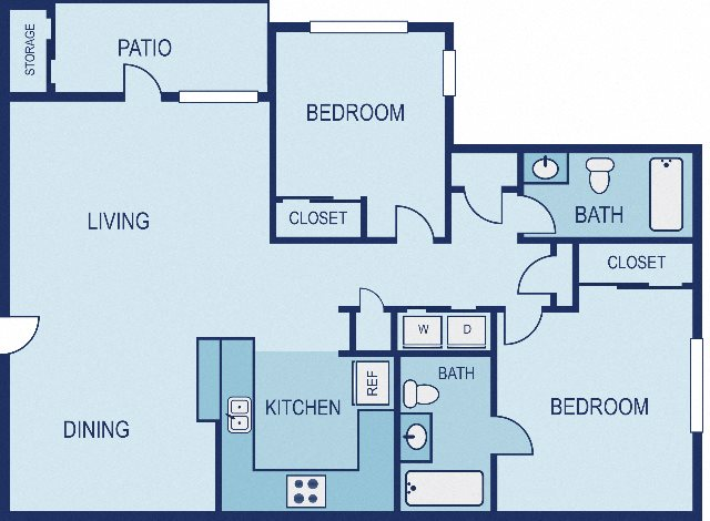 2 Bed / 2 Bath - Upgraded Floor Plan 3