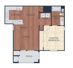 1a-1 Bedroom, 1 Bath