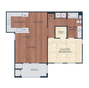 1b-1 Bedroom, 1 Bath