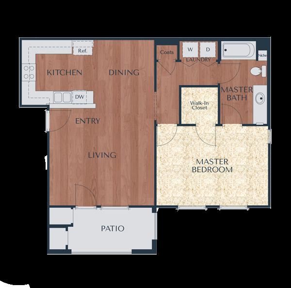 1b-1 Bedroom, 1 Bath