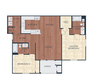 2b-2 Bedroom, 2 Bath