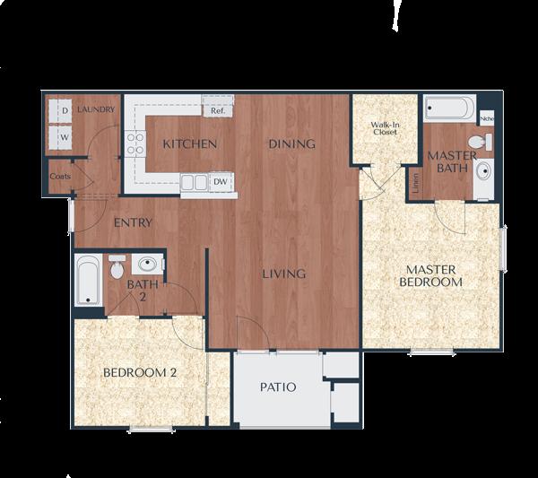 2b-2 Bedroom, 2 Bath