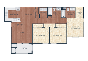 3a-3 Bedroom, 2 Bath