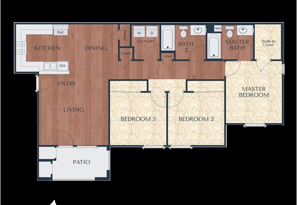 3a-3 Bedroom, 2 Bath