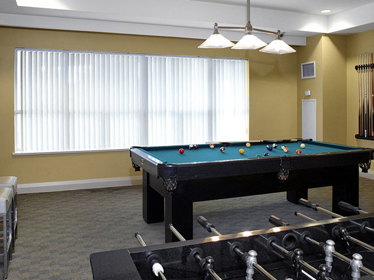 Game Room with Pool and Foosball Table