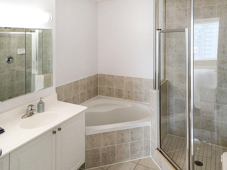 The Bay Club updated bathroom 1