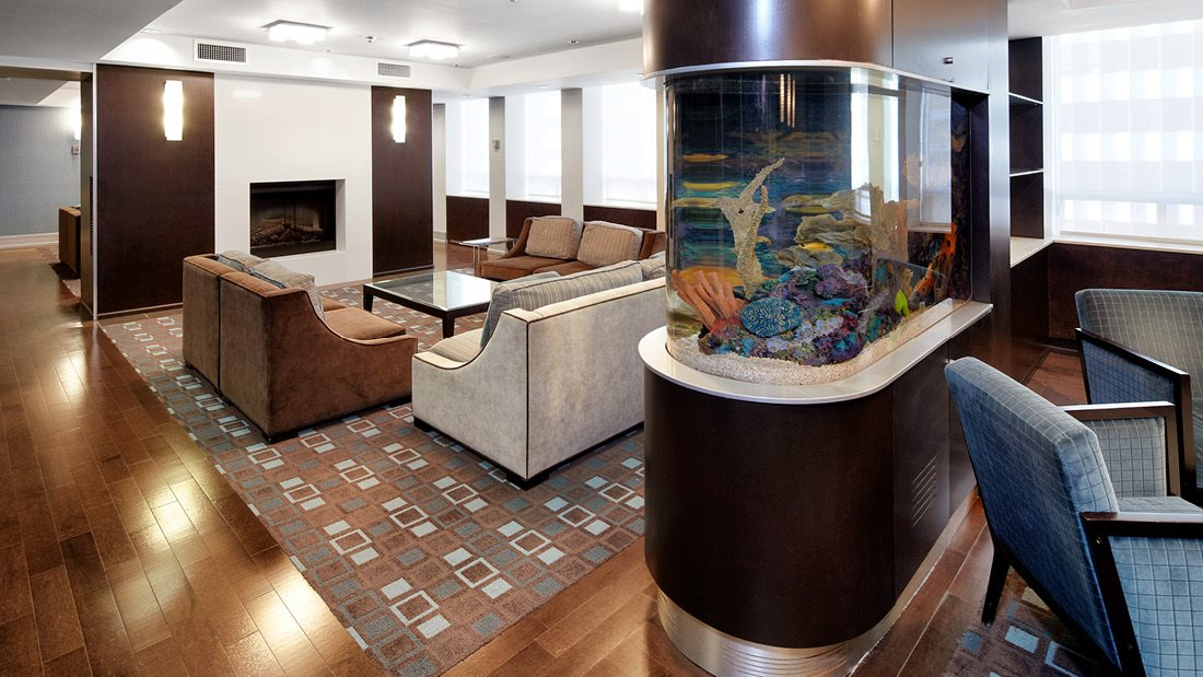 Aquarium in Amenities Lounge
