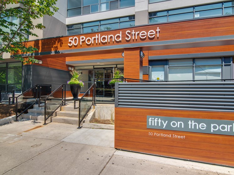 Front Entrance Fifty on the Park