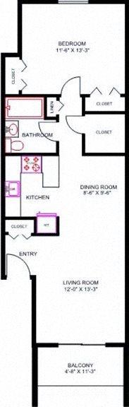 1 Bedroom 2nd Floor w/Balcony