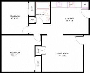 Two Bedroom 3rd Floor