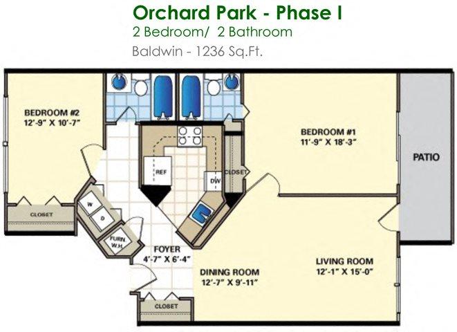 Baldwin (2/2) Floor Plan 18