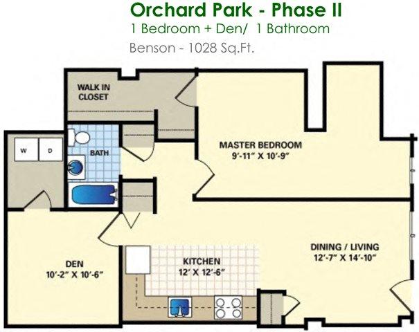 Benson (1/1) Floor Plan 8